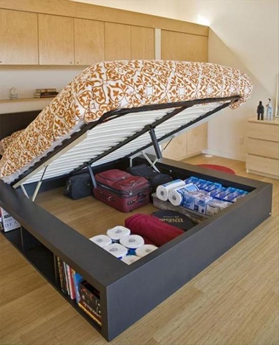 cama que levanta, armario embaixo da cama, under the bed, storage, room, quarto, ganhar espaco, otimizar espaco, guardar
