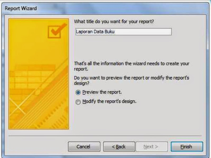 Membuat Report Di Microsoft Access 2010 dekatilmu