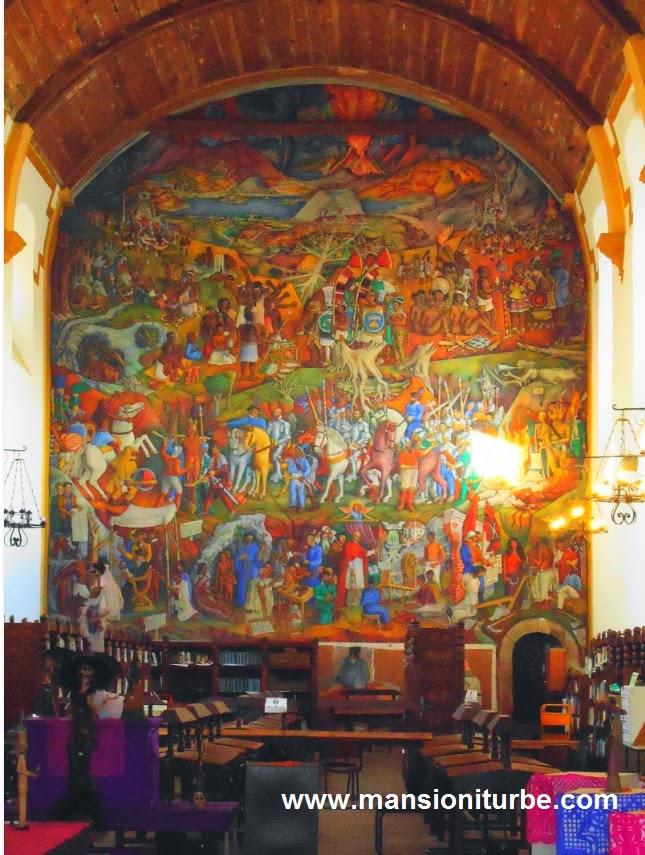 Mural de Juan O' Gorman en la Biblioteca Pública de Pátzcuaro