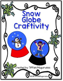 Hello Winter-Snow globe snowman marble art craft project for kids