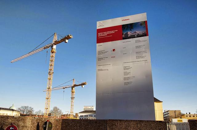 Baustelle Potsdam, Bürokomplex für die Landesregierung Brandenburg, Hoffbauerstraße, 14467 Potsdam, 11.01.2014