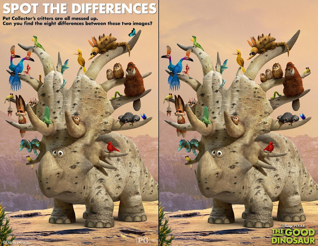 The Good Dinosaur Spot the Differences Printable