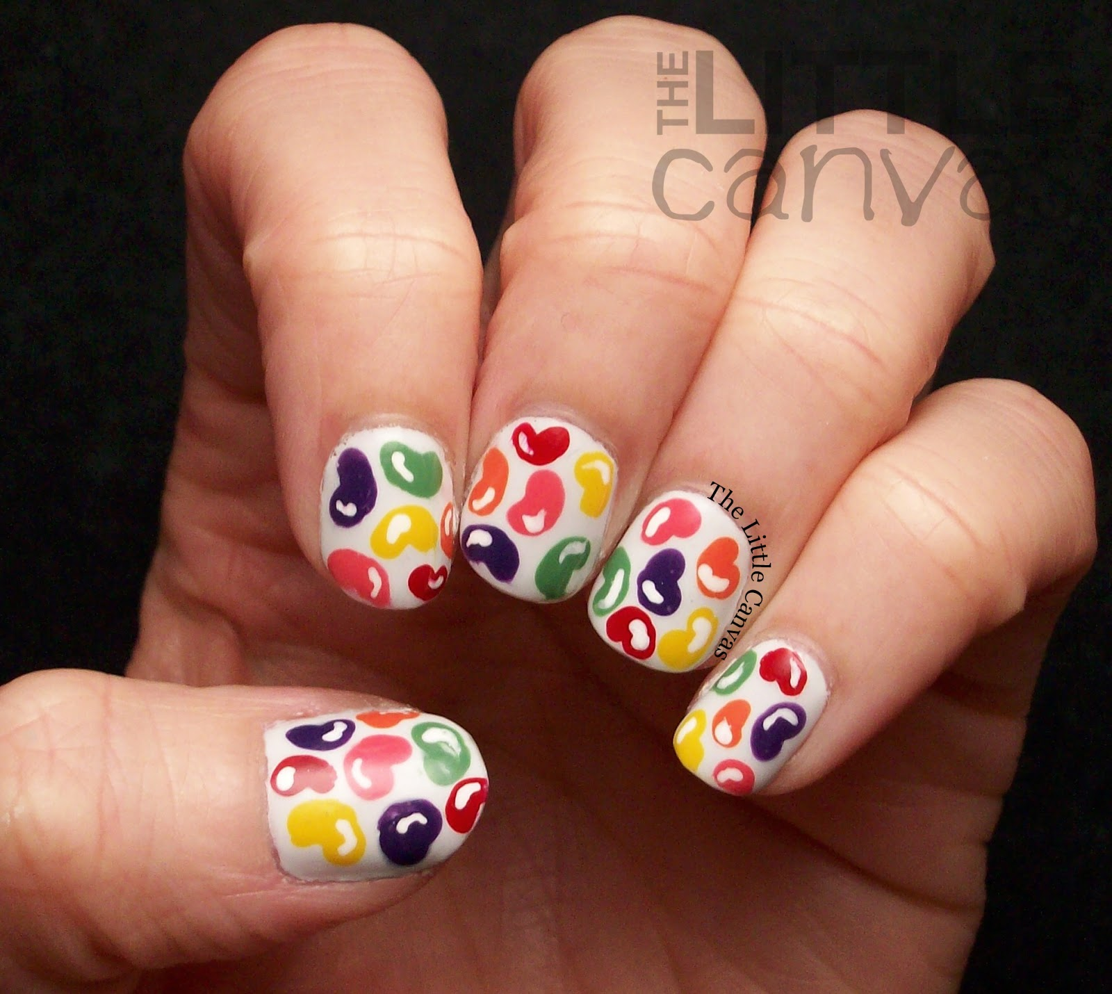 Twinsie Tuesday - Gifted Polish - Jelly Bean Nail Art - The Little ...