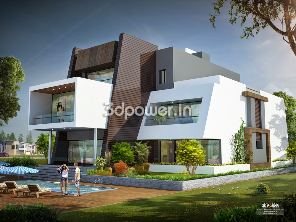 House design indian style plan elevation for Ultra modern building design