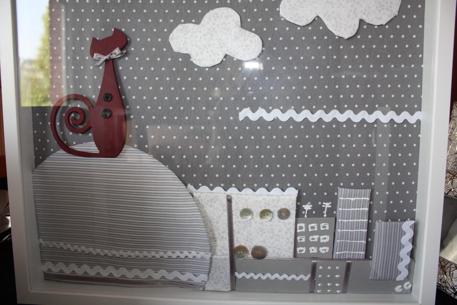 y a la vez practico unos cuadros para habitaciones infantiles realizados con telas que pueden ser igual que las telas que combinan en la habitacin
