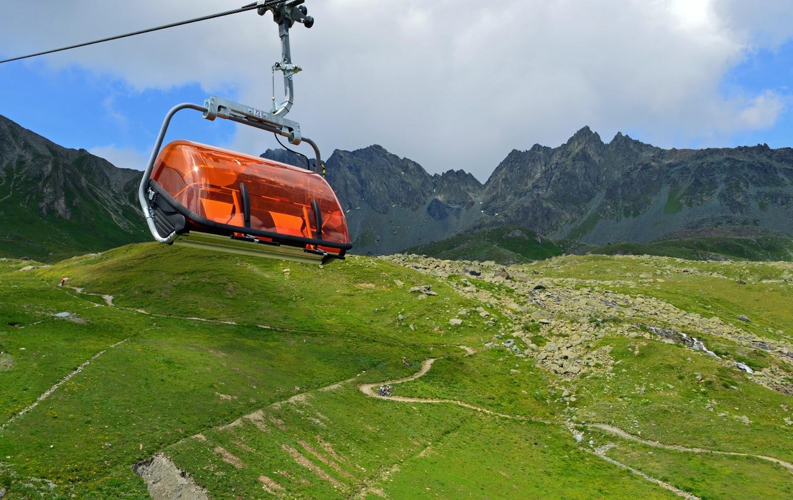 Kolejki linowe Alpy Tyrol Austria Szwajcaria