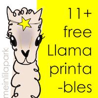 free printable llama: