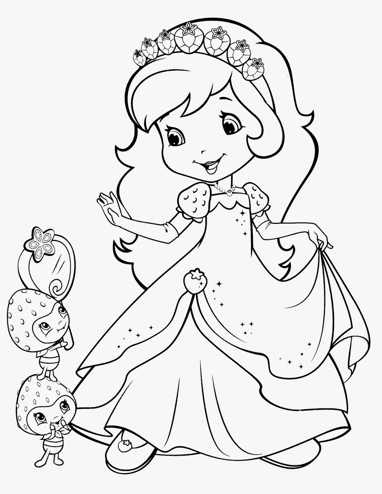 Free Coloring Pages Of Strawberry Strawberry Shortcake Colouring Pages