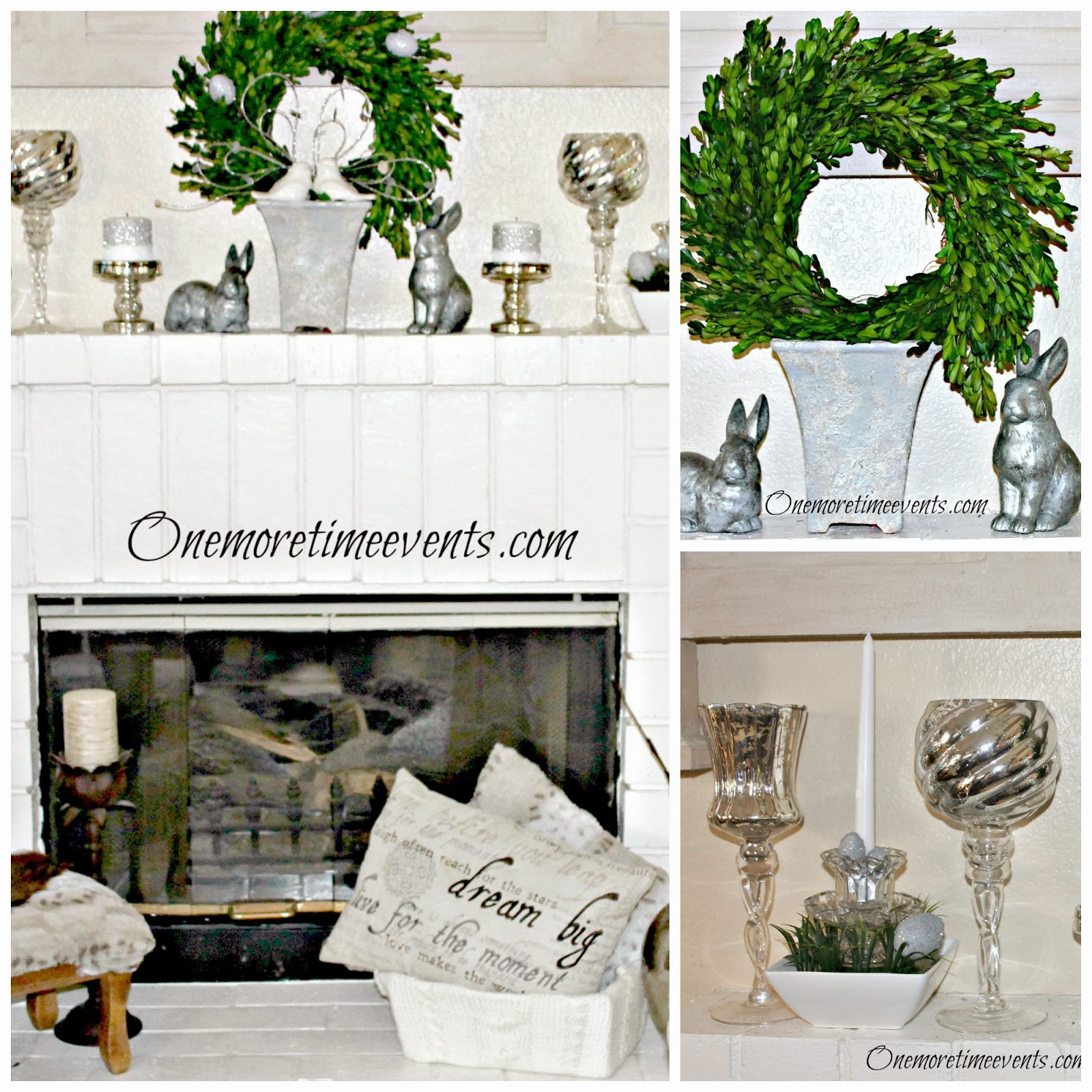 Spring Mantel at One More Time Events.com