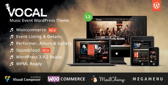 Vocal - Music Event WordPress Theme