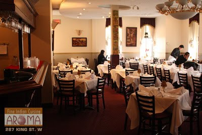 Product reviews canada aroma indian restaurant in for Aroma fine indian cuisine king street west toronto on