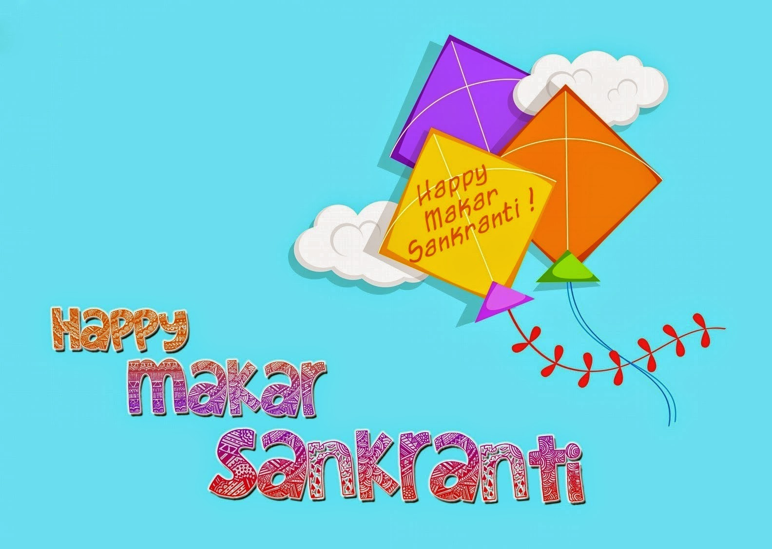 Happy Makar Sankranti 2015 HD Wallpapers