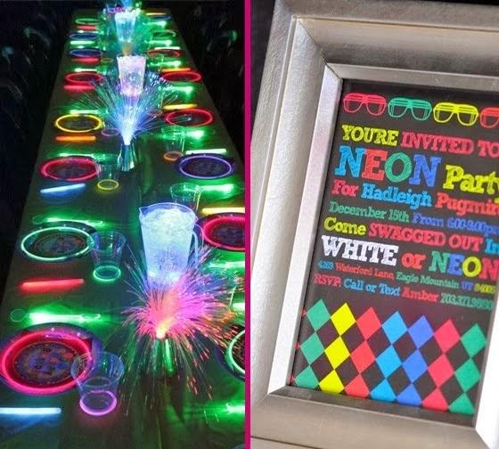 decoracao festa neon:Tudo de festas: Festa neon