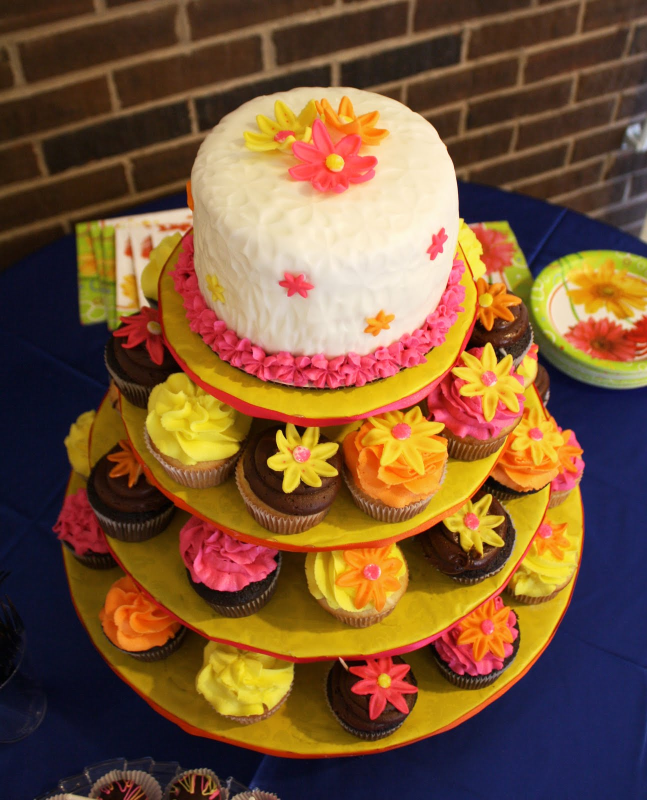 Sweet Treats by Angie Bridal Shower Daisy Cupcake Tower