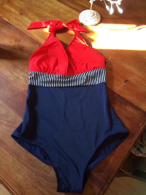 Swimcurves Ava swimming costume for oval shaped women
