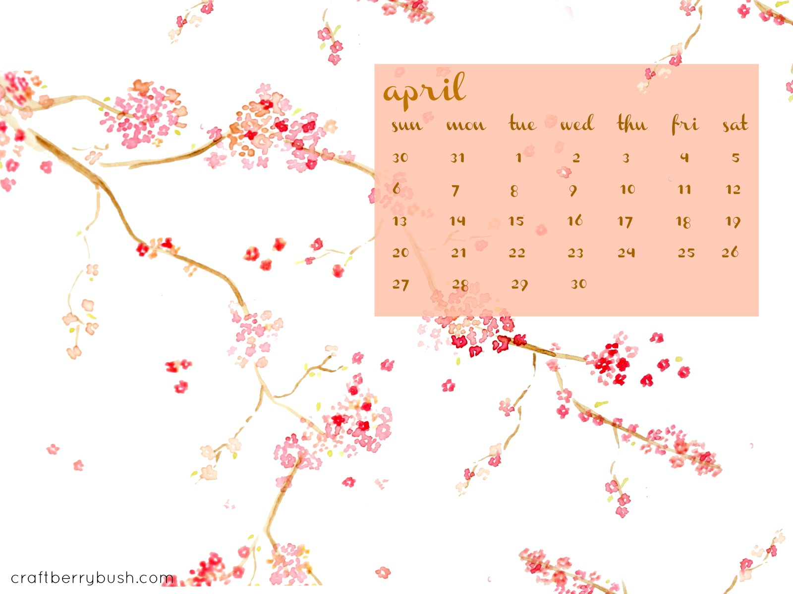 March April May 2014 Calendar April's free desktop calendar