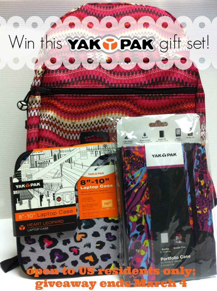 Yak Pak gift pack giveaway; ends March 4
