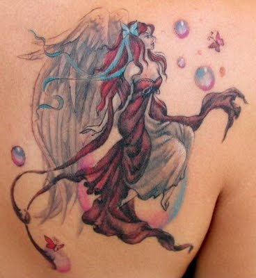 beautiful fairy tattoo