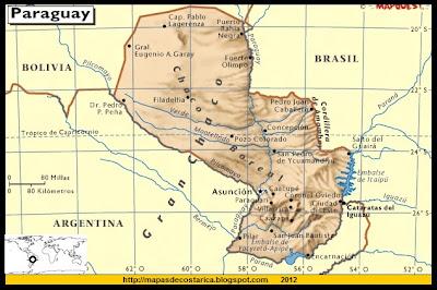 Mapa de PARAGUAY, Atlas