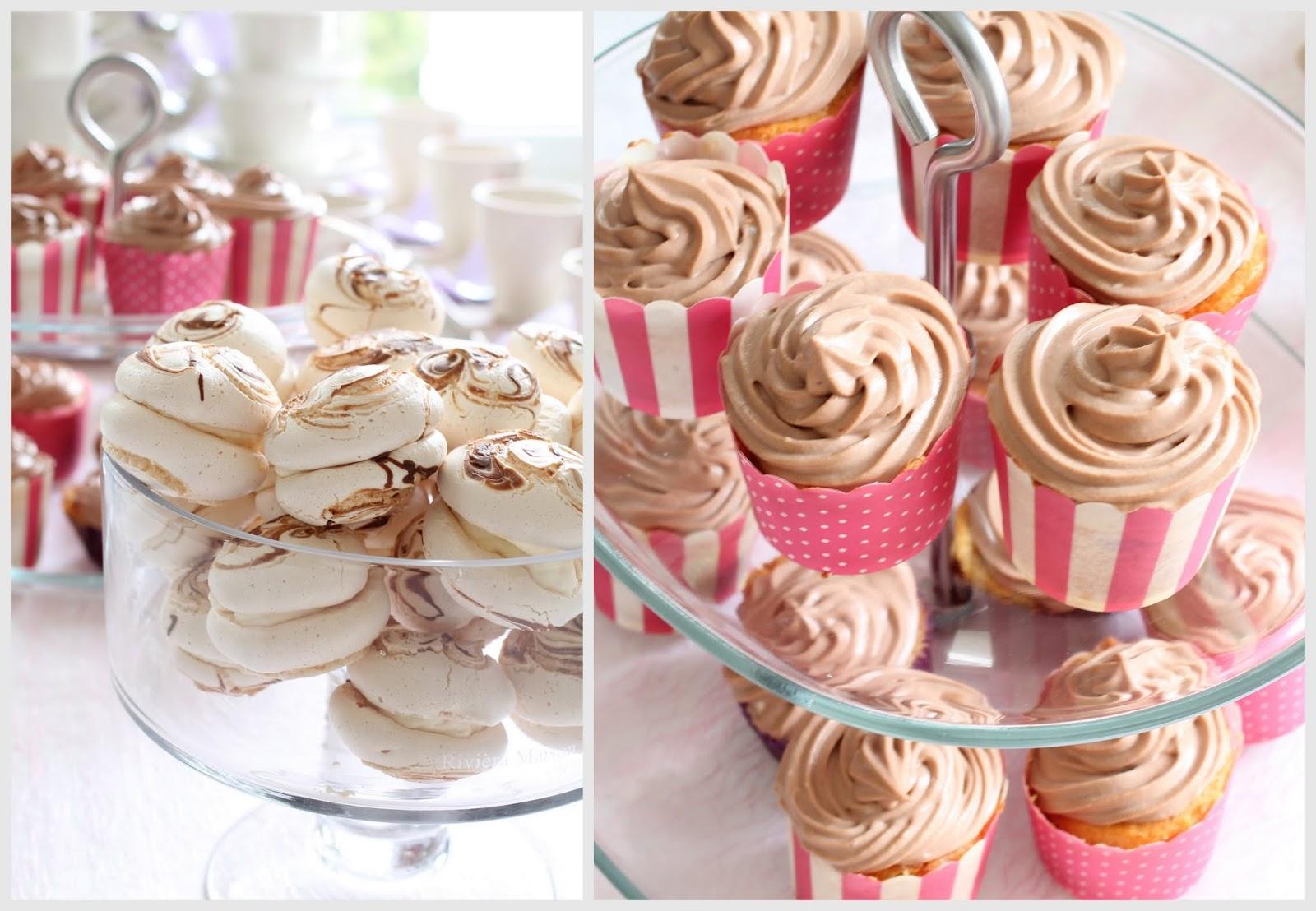 cupcakes, marengit, marenkileivokset, marmoroidut marengit, ristiäistarjoilut
