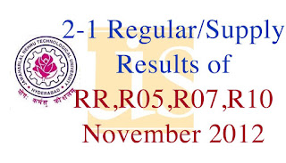 2-1 Regular/Supply Results of RR,R05,R07,R10 November 2012