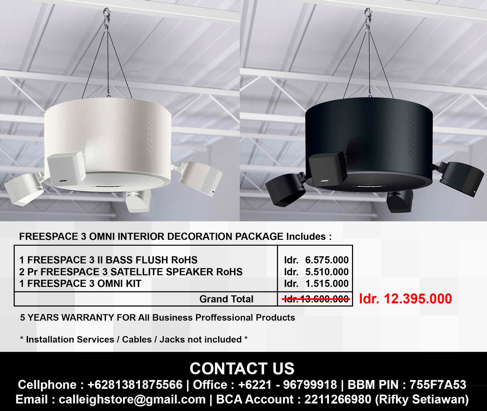 Bose Sound System Installation Services By Calleigh Store