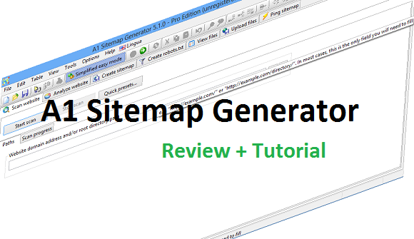 A1 Sitemap Generator Review And Instructions To Use