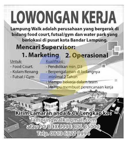 Lowongan Kerja Lampung Walk