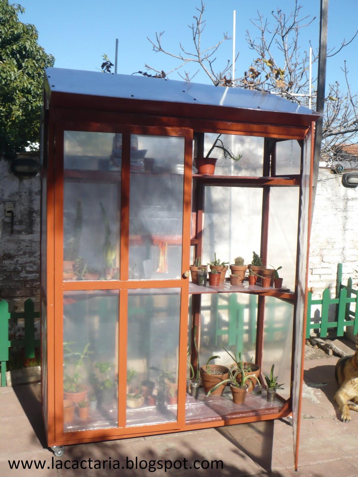 Invernadero m vil para espacios peque os la cactaria - Invernaderos para terrazas ...