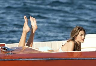 Alessandra Ambrosio Blue Bikini Saint Tropez