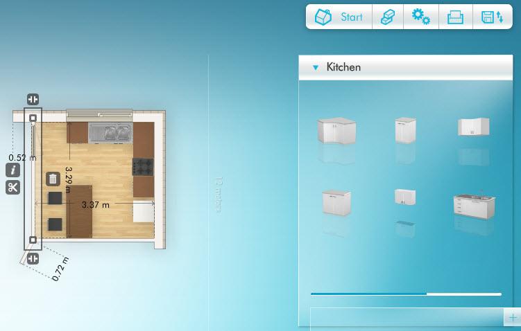 Dise ar cocina hacer los planos y elegir estilos y for Programa para disenar cocinas 3d online