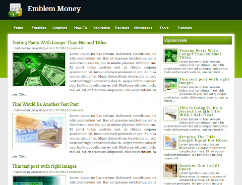 Emblem Money Blogger Theme