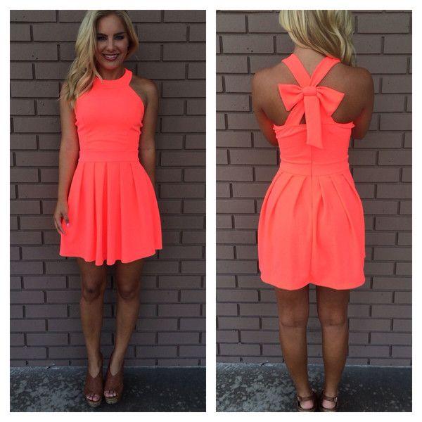 vestidos color neon cortos