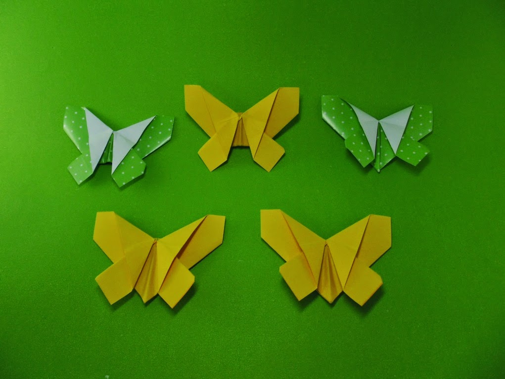 origami borboleta papel