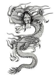 Motif Tato Naga Hitam Putih 28