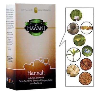Susu Hawani Hannah, Minuman istimewa anti-penuaan