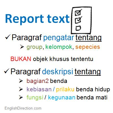 bahasa inggris penjelasan narrative text penjelasan lengkap report