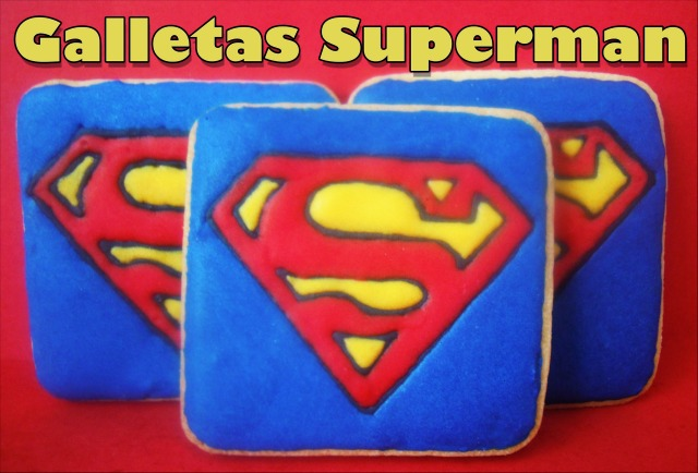 Galletas decoradas: Galletas de Superman