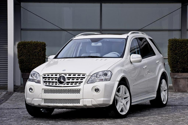 mercedes ml 164 white