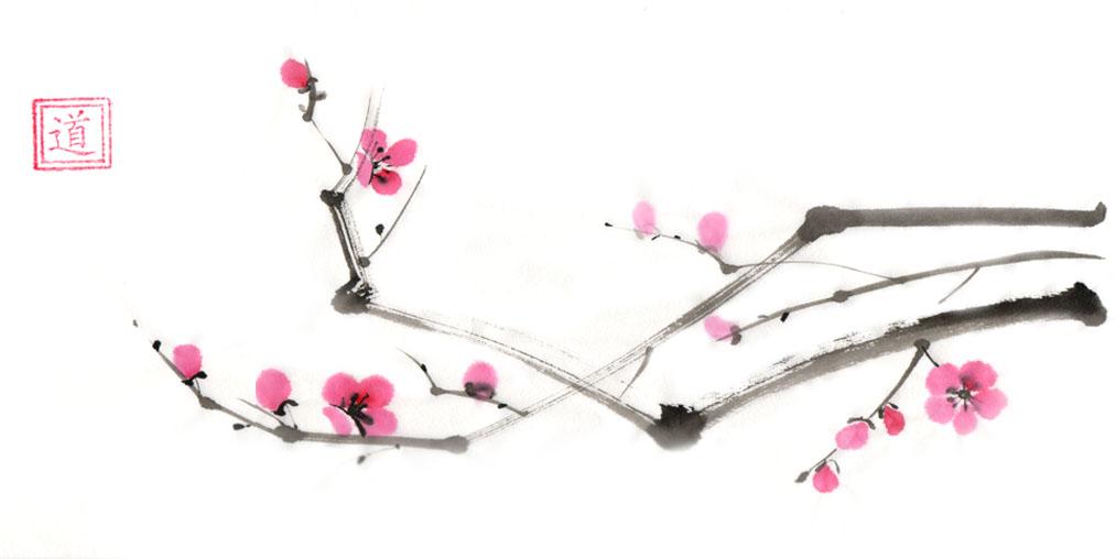 сакура живопись: