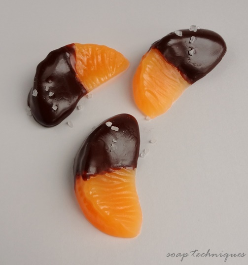Mandarin slices dipped in chocolate - Mini Dessert Soaps