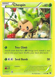 Chespin BREAKthrough Pokemon Card