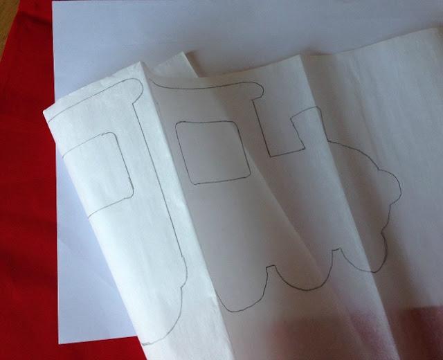 bondaweb folded to show reverse image