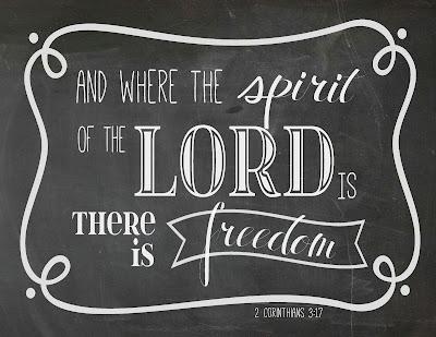 free chalkboard printable 2 corinthians 3:17 bonhomieEVENTS