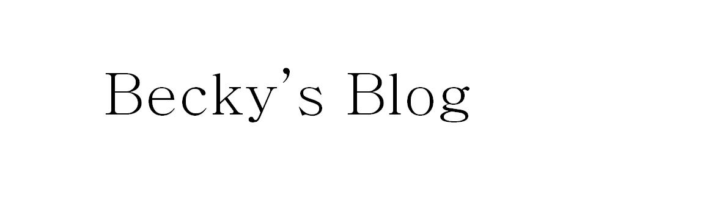 Becky's Blog