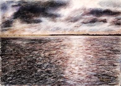 Tempestade sobre o rio