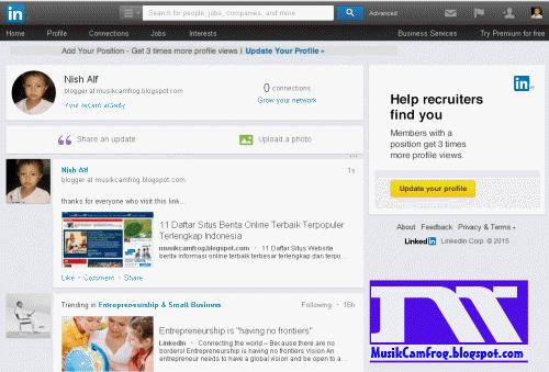 daftar jejaring sosial linkedin