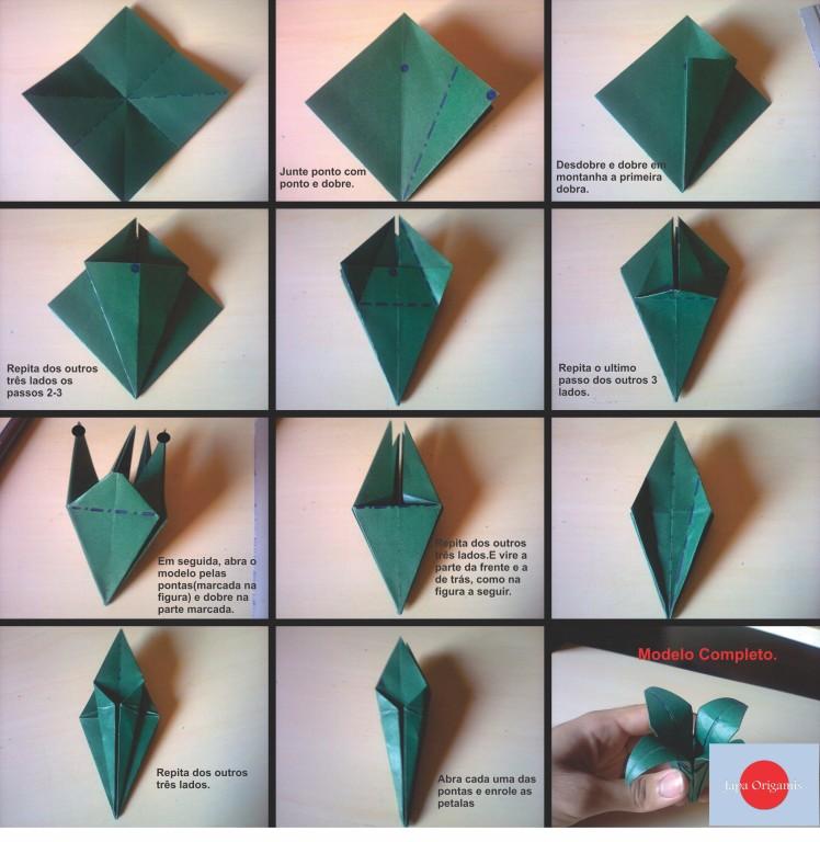Ирис оригами как сделать