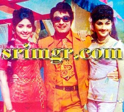 MGR with Latha & Manjula