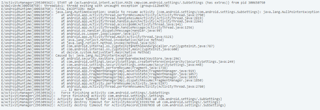 Analisis OS 10.3.2.2876 Android Runtime, Analisis Bug OS 10.3.2.2876 Android Runtime